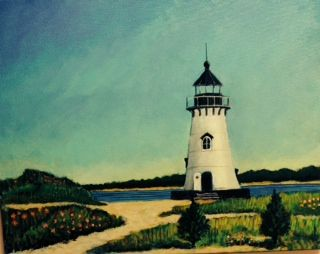 Edgartown Lighthouse Spring 2014 © Bill Buckley, all rights reserved.