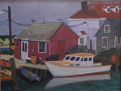 The Red Shack-Menemsha © Bill Buckley, all rights reserved.