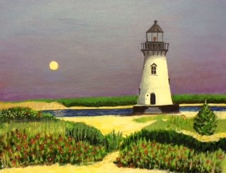 Moonrise, Edgartown © Bill Buckley, all rights reserved.