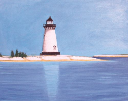 Edgartown Lighthouse- winter © Bill Buckley, all rights reserved.